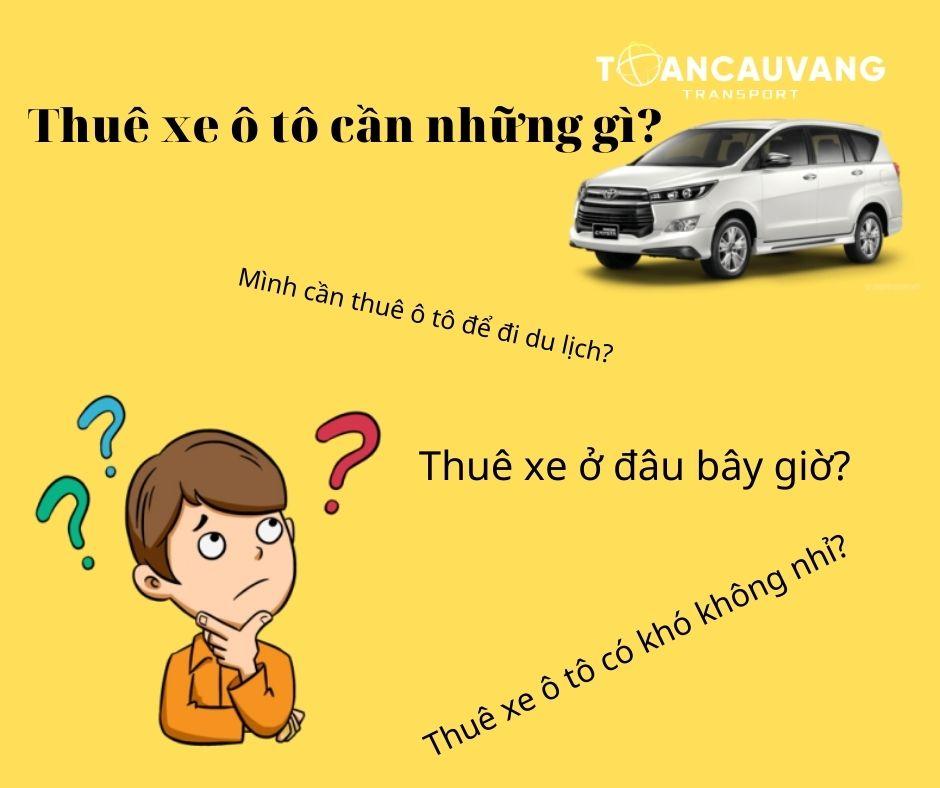 thuê xe ô tô cần những gì