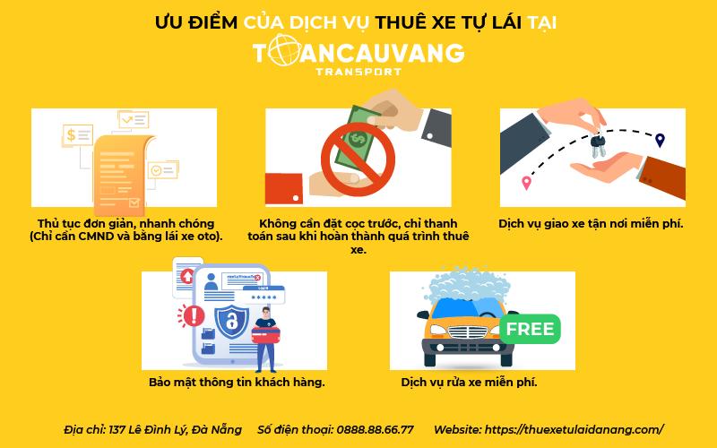 ưu điểm thuê xe tự lái Đà Nẵng